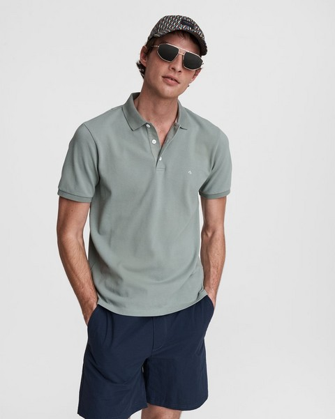 RAG & BONE Hyper-Laundered Cotton Pique Polo