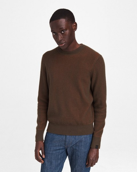 RAG & BONE Finch Ribbed Cashmere Blend Crew