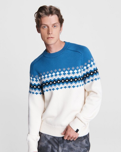 RAG & BONE Lloyd Fairisle Wool Crew