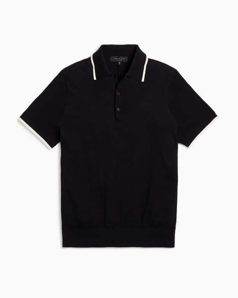 RAG & BONE JALEN SHORT SLEEVE POLO