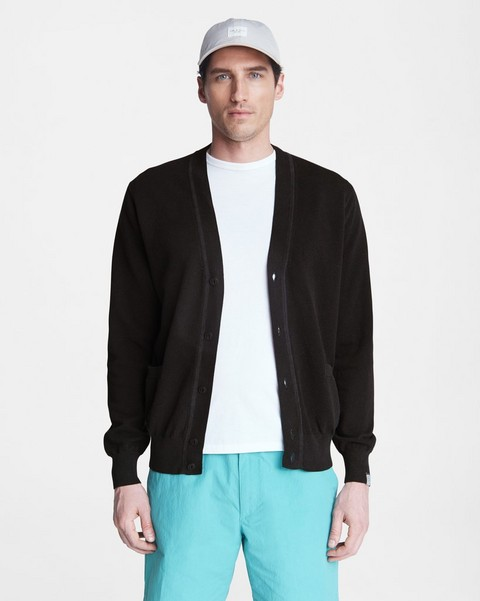 RAG & BONE Hemp Cotton Pique Cardigan
