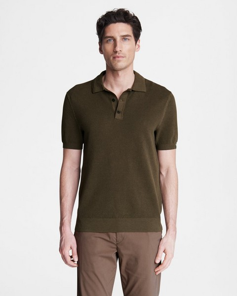 RAG & BONE Hemp Cotton Pique Polo
