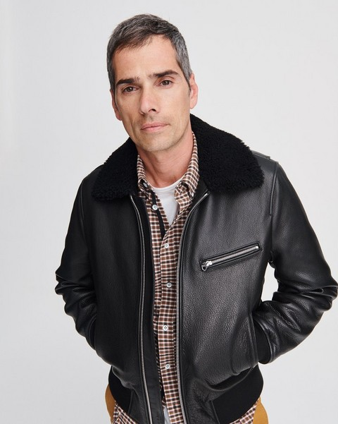 RAG & BONE LEATHER FLIGHT JACKET