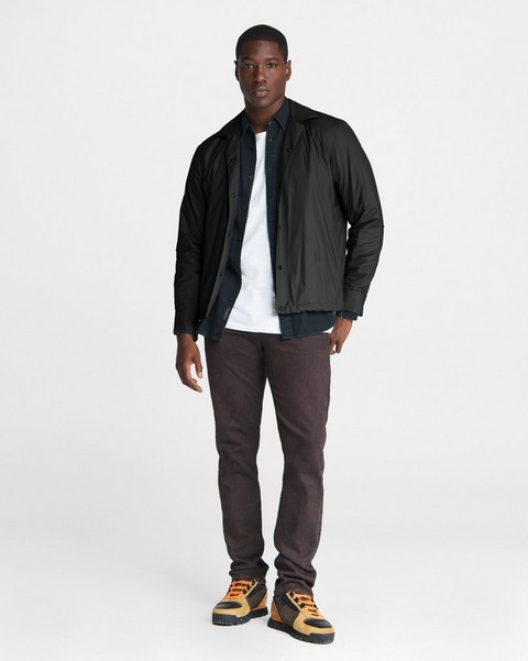 RAG & BONE Padded Finlay Stretch Nylon Shirt Jacket