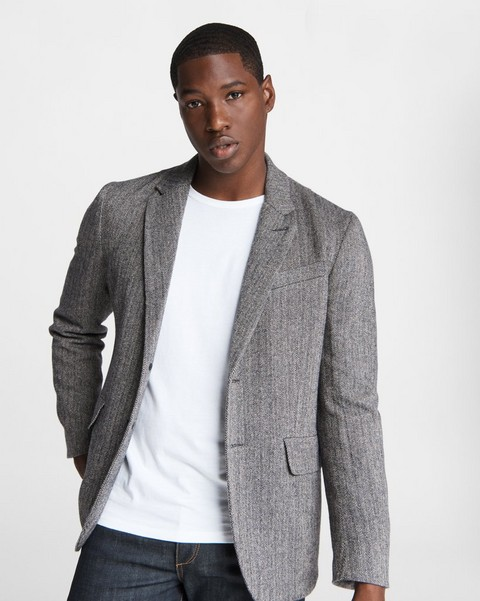 RAG & BONE Deconstructed Razor Wool Blazer