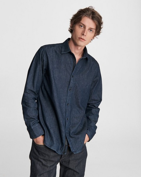 RAG & BONE Fit 3 Denim Shirt - Japanese Chambray