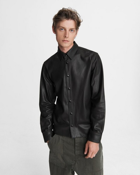 RAG & BONE Lucas Shirt - Leather