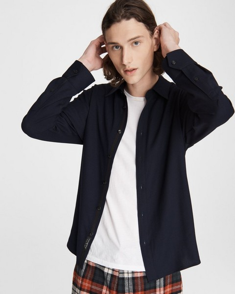 RAG & BONE Dalton Shirt - Wool Crepe