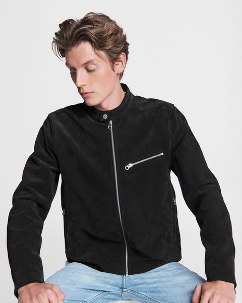 RAG & BONE Suede Cafe Racer Jacket