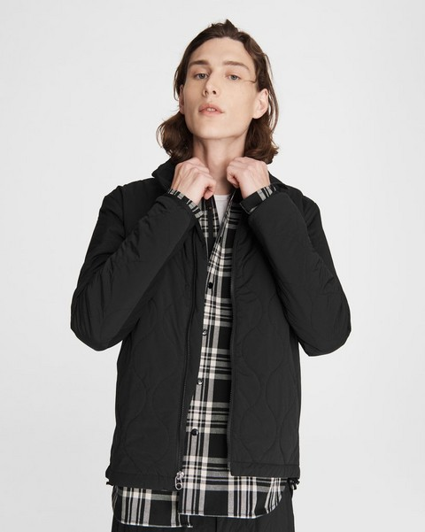 RAG & BONE Quilted Agnes Stretch Nylon Jacket