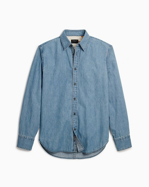 RAG & BONE Fit 3 Denim Shirt - Chambray