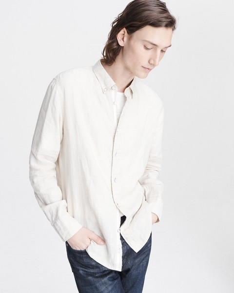 RAG & BONE FIT 2 TOMLIN LINEN SHIRT