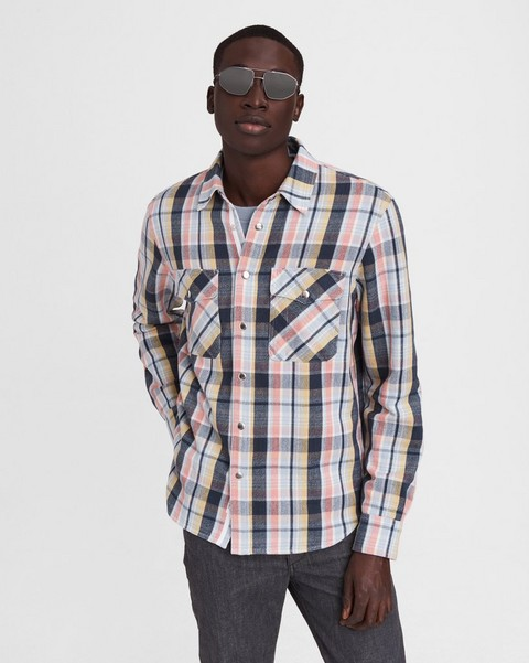 RAG & BONE Plaid Cotton Jack Shirt