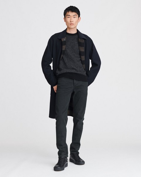 RAG & BONE FIT 2 IN BLACKENED GREEN - OVERDYED