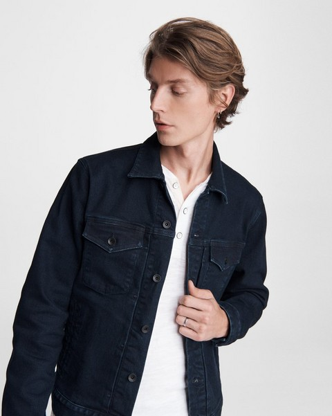 RAG & BONE Definitive Cotton Cashmere Jean Jacket
