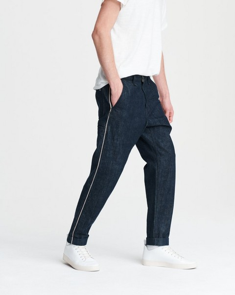 RAG & BONE SELVEDGE STRIPE JEAN IN INDIGO