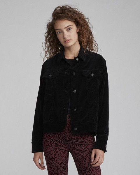 RAG & BONE VELVET OVERSIZED JACKET