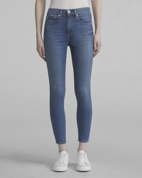 RAG & BONE HIGH RISE ANKLE SKINNY