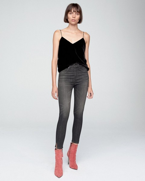 RAG & BONE HIGH RISE ANKLE SKINNY With SLITS