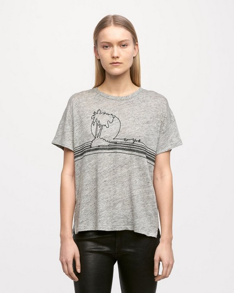 RAG & BONE PALM EMBROIDERY TEE
