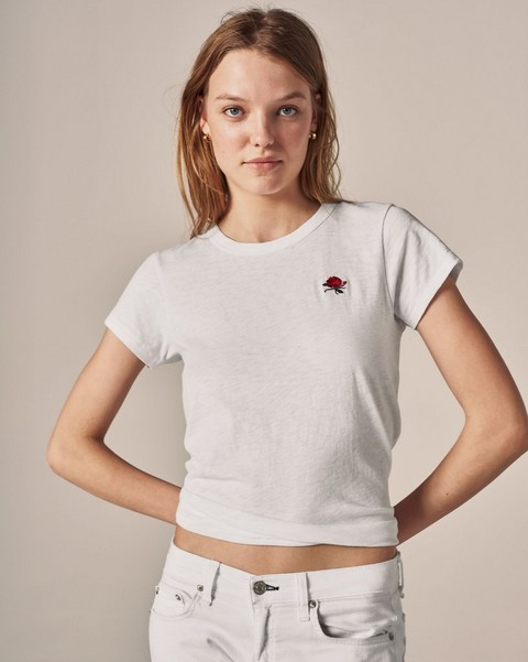 RAG & BONE ROSE EMBROIDERED TEE