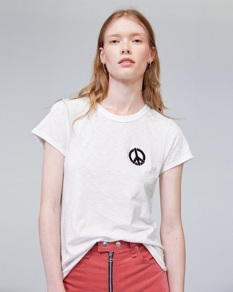 RAG & BONE PEACE SIGN TEE