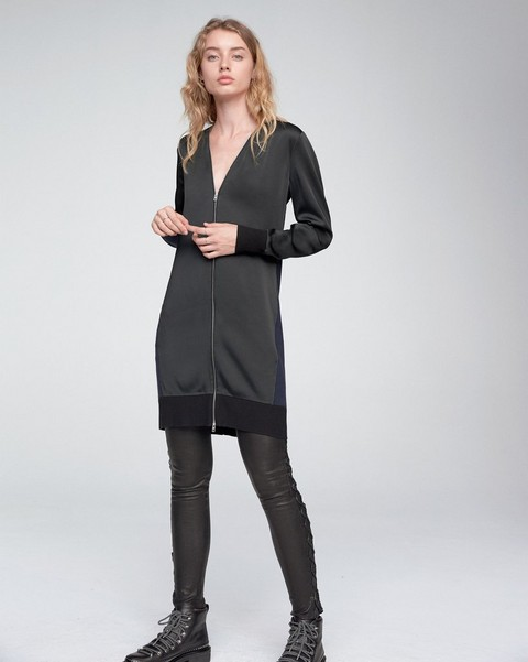 RAG & BONE VIVIENNE ZIP-UP DRESS