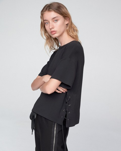 RAG & BONE LACE UP TEE