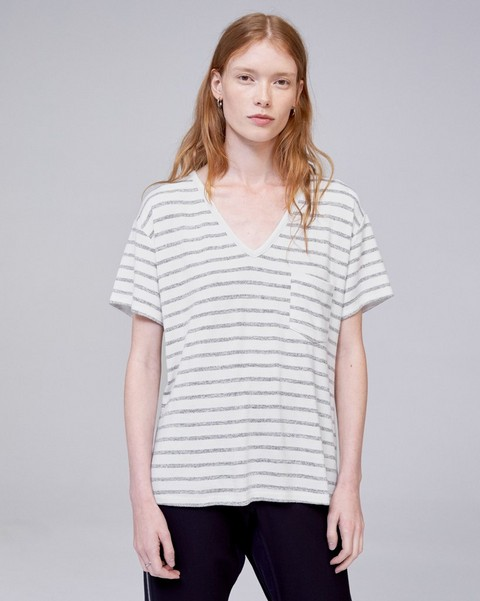 RAG & BONE STRIPED THEO TEE