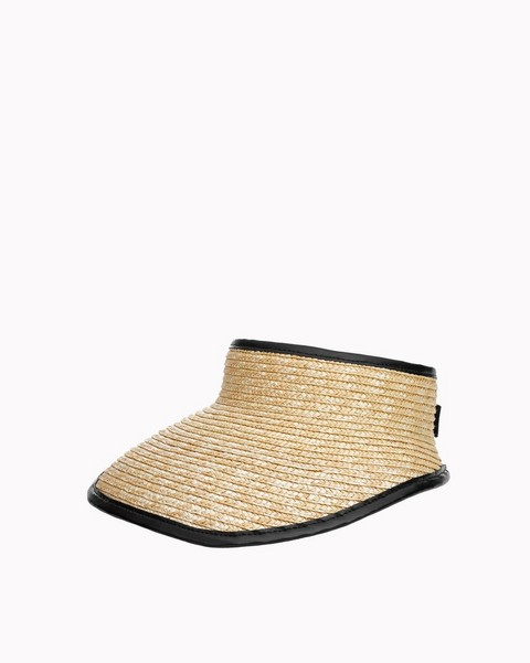 RAG & BONE PACKABLE STRAW VISOR