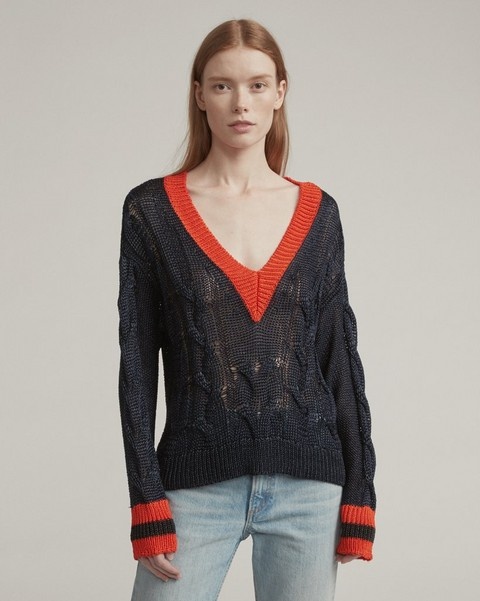 RAG & BONE EMMA CROPPED V-NECK