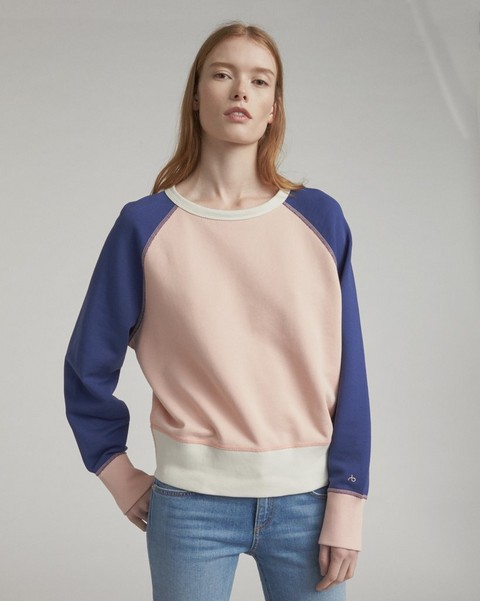 RAG & BONE COLOR BLOCKED RAGLAN SWEATSHIRT