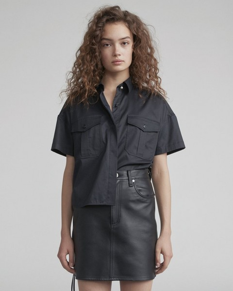RAG & BONE CROPPED SS MASON SHIRT