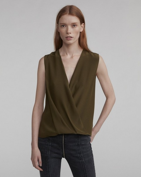 RAG & BONE SLEEVELESS VICTOR BLOUSE