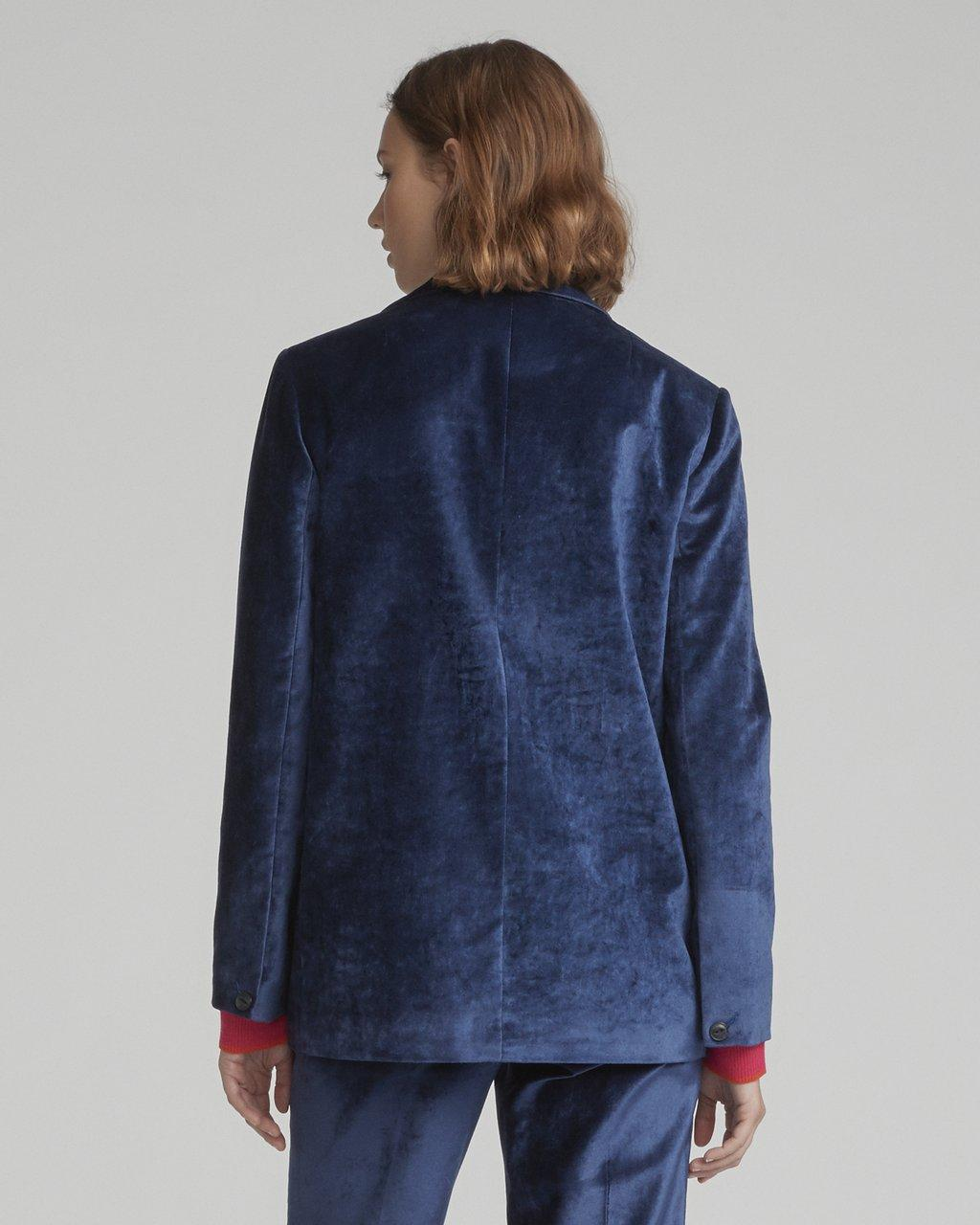 $650 NEW RAG /& BONE MONTY OVERSIZED VELVET DENIM BLUE BLAZER JACKET WOMEN/'S 6