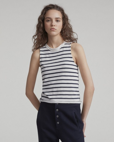 RAG & BONE HALSEY STRIPED TANK