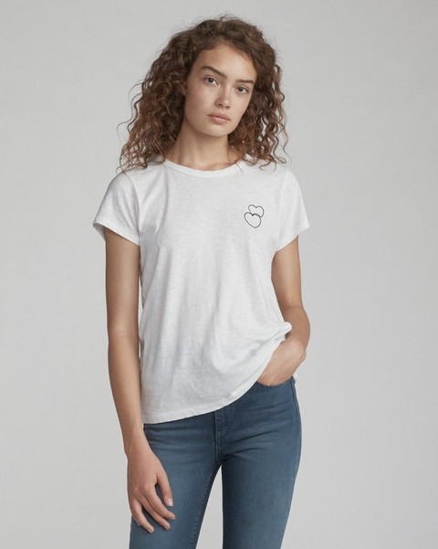 RAG & BONE DOUBLE HEART TEE