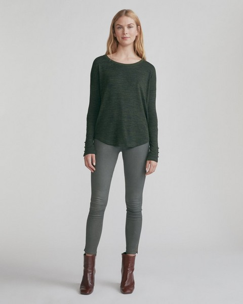 RAG & BONE HIGH RISE ANKLE SKINNY LEATHER PANT