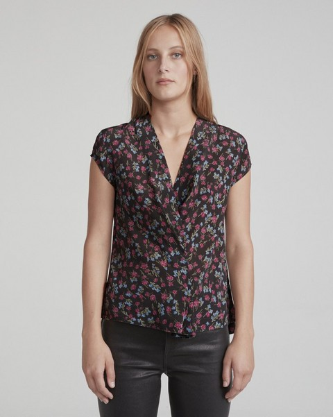 RAG & BONE SHIELDS SHORT SLEEVE TOP