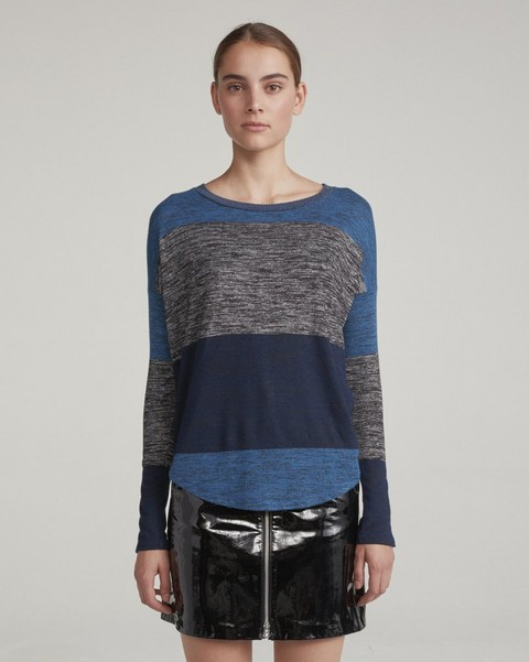 RAG & BONE STRIPED HUDSON LONG SLEEVE
