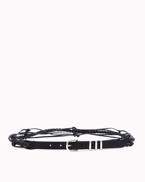 RAG & BONE KNOTTED JET BELT