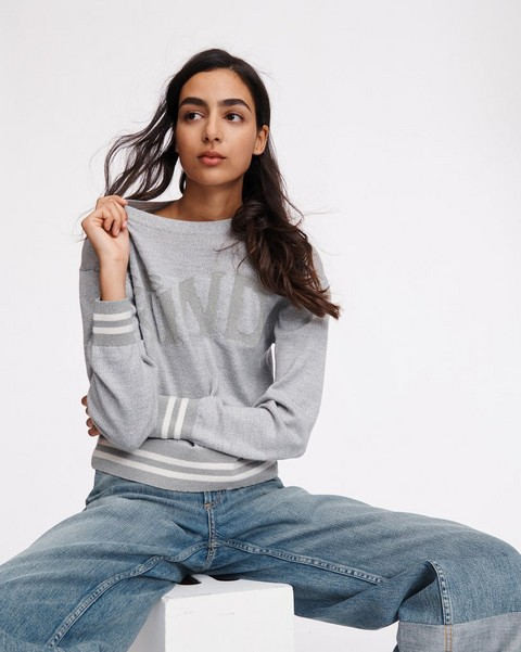 RAG & BONE Reflective Wool Crew