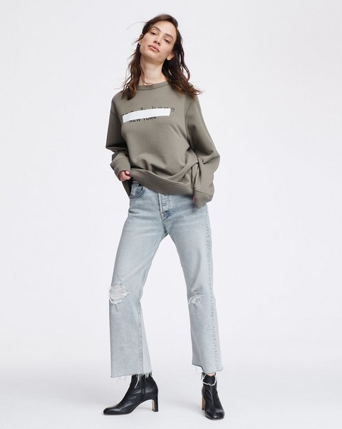 RAG & BONE RB TAPE OVERSIZED SWEATSHIRT