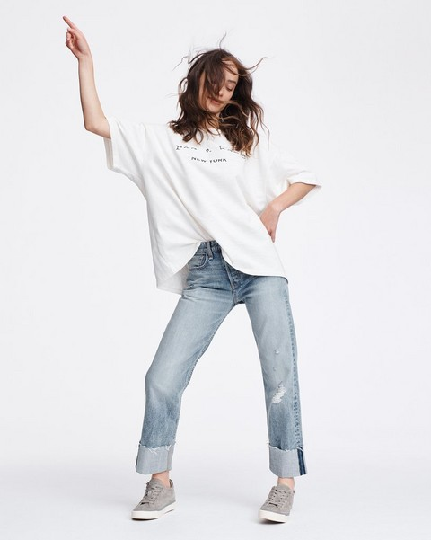 RAG & BONE RB TAPE OVERSIZED TEE