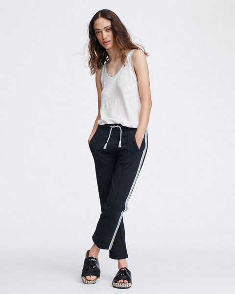 RAG & BONE MOLLY STRIPED TRIM TRACK PANT