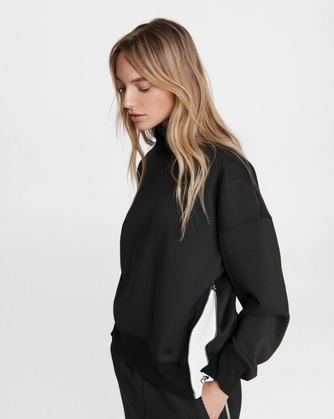 RAG & BONE Modular Zip Scuba Turtleneck