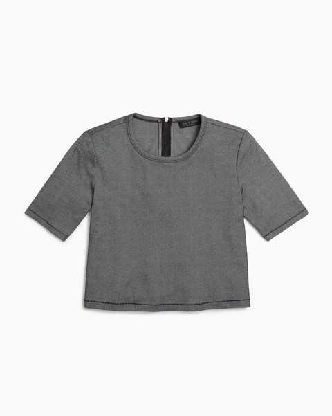 RAG & BONE QUINN ZIP SHORTSLEEVE
