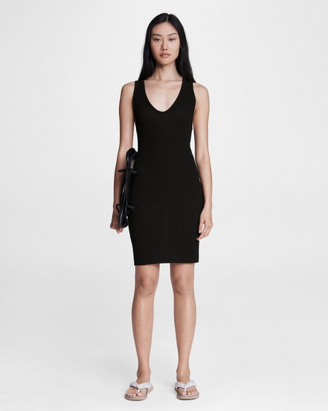 RAG & BONE Zoe Deep Vee Mini Dress