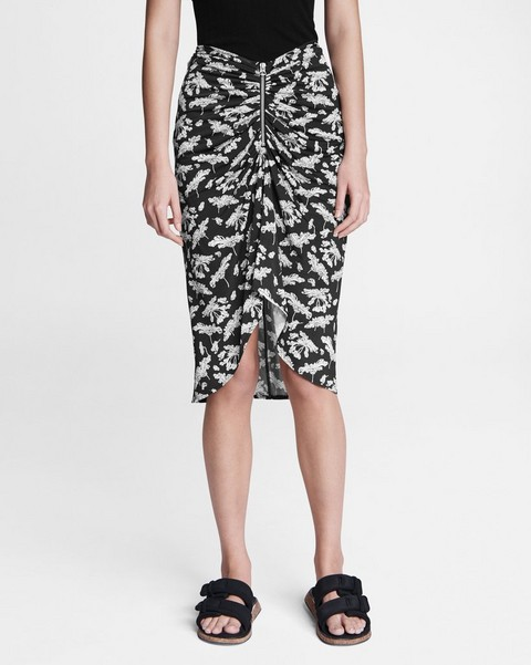 RAG & BONE Sabeen Midi Zip Skirt