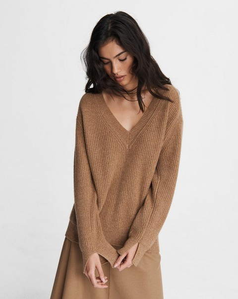 RAG & BONE Pierce Cashmere V Neck